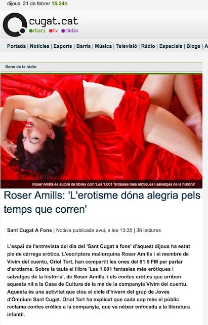 Entrevista a SANT CUGAT A FONS | Roser Amills: 'L'erotisme dóna alegria pels temps que corren'