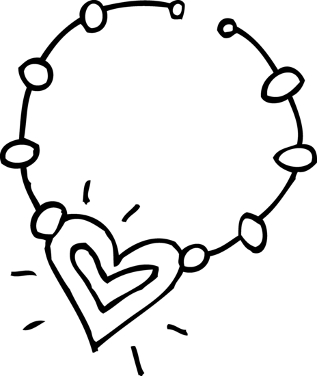 Click The Heart Necklace Coloring Pages