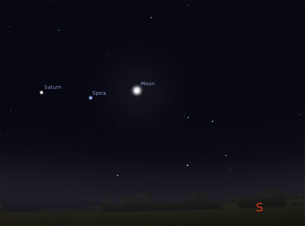 Moon Saturn and Spica Star (page 2) - Pics about space