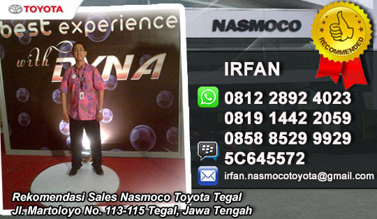 Rekomendasi Sales Toyota Nasmoco Tegal, Jawa Tengah