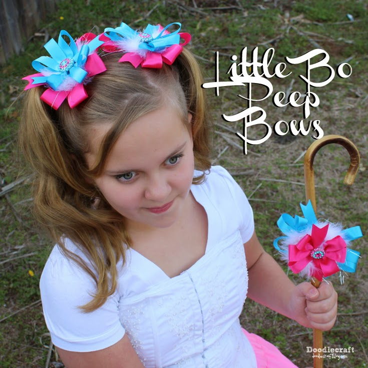 Doodlecraft: Little Bo Peep Pigtail Bows!