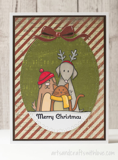 Cute Christmas card for December CS blog challenge