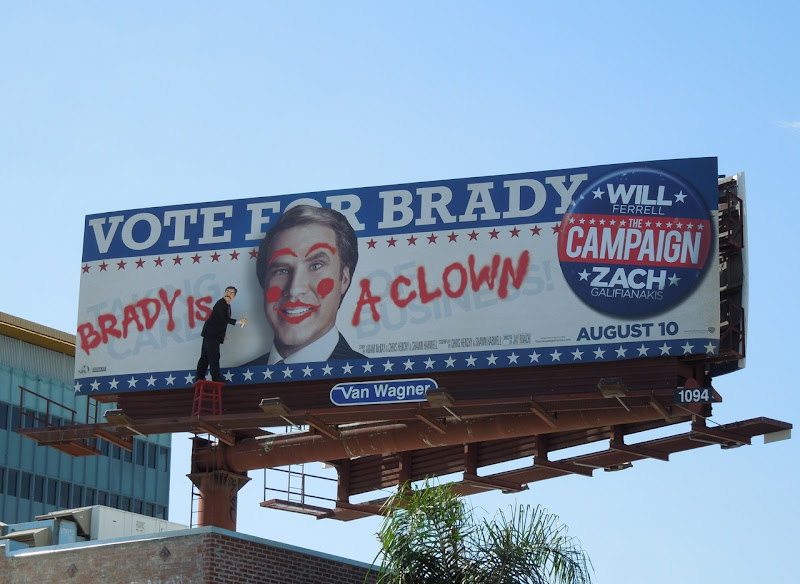 Campaign Vote Brady billboard installation