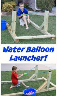 Juegos de madera para niños : catapulta