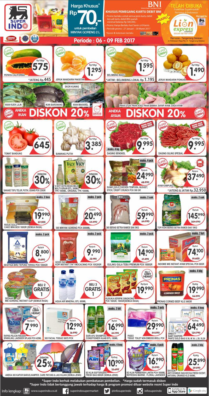 Katalog Promo Awal Pekan Superindo 6 9 Februari 2017 Katalog