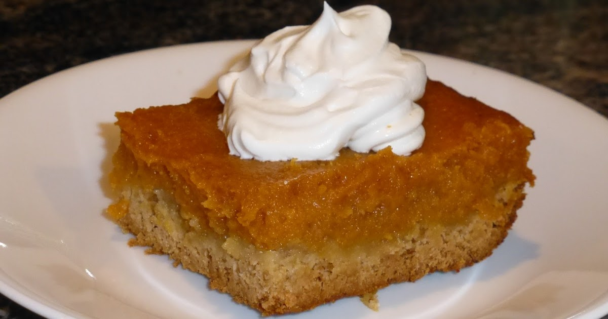 Pumpkin Gooey Butter Cake Without Cake Mix
