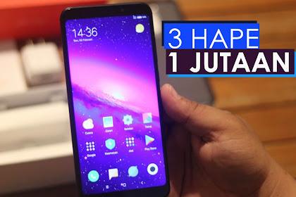 3 Smartphone harga 1 jutaan terbaik 2018