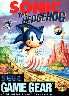 Portada del cartucho de la Sega Game Gear de Sonic the Hedgehog, 1991