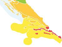 Narančasti stupanj pripravnosti, vrlo topla noć i vruć dan slike otok Brač Online