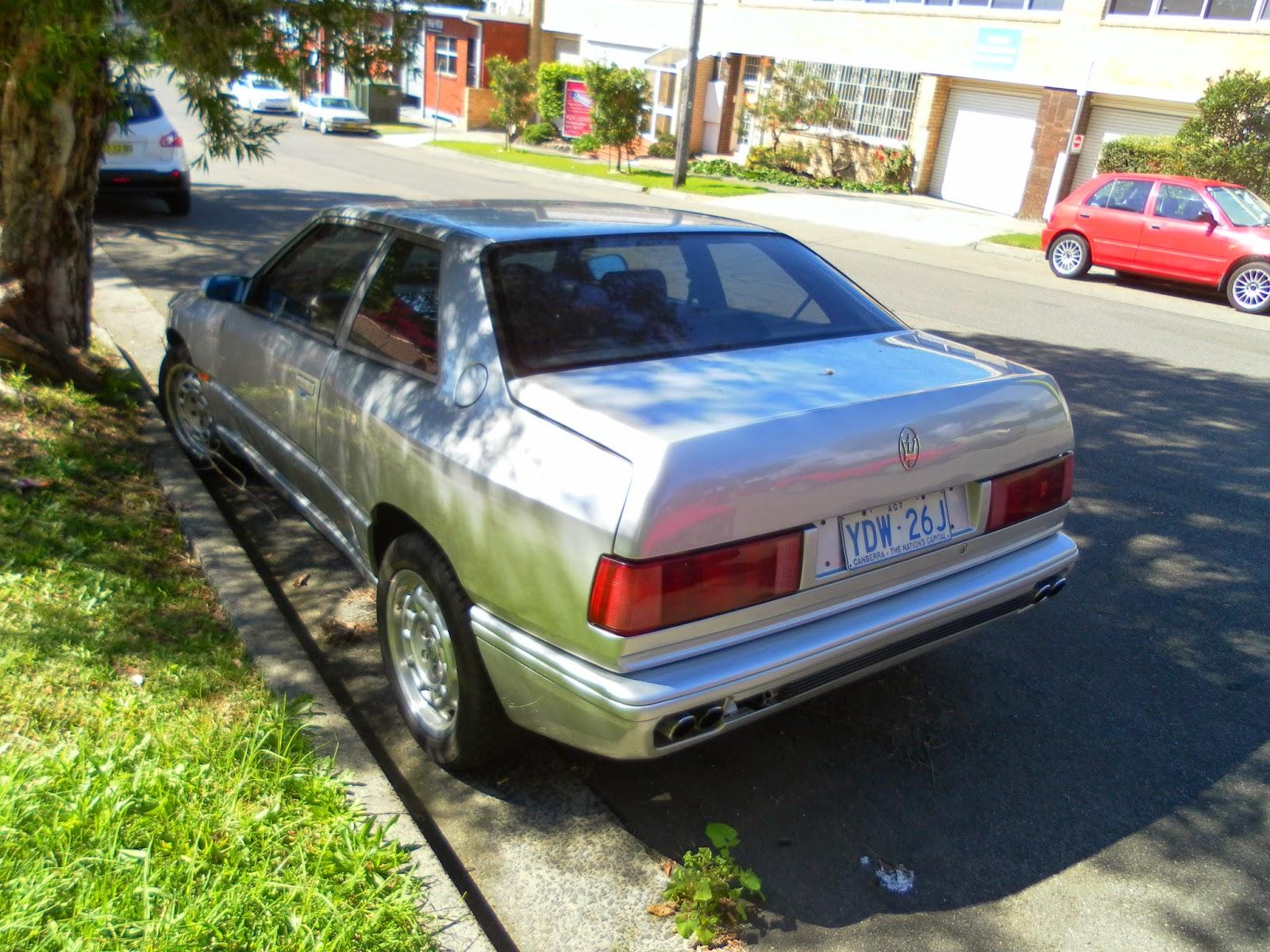 Aussie Old Parked Cars: 1995 Maserati Ghibli II