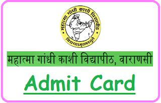 MGKVP Varanasi Admit Card 2021