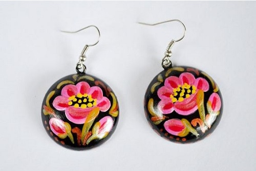 Hand Painted Wood Jewelry by VivaArcenciel - The Beading ...
