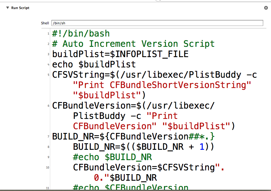 Auto-Generating / Incremental Build Versions in Xcode 5 | 孔