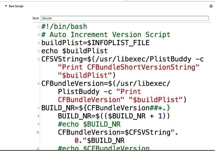 Auto-Generating / Incremental Build Versions in Xcode 5 | 孔天明