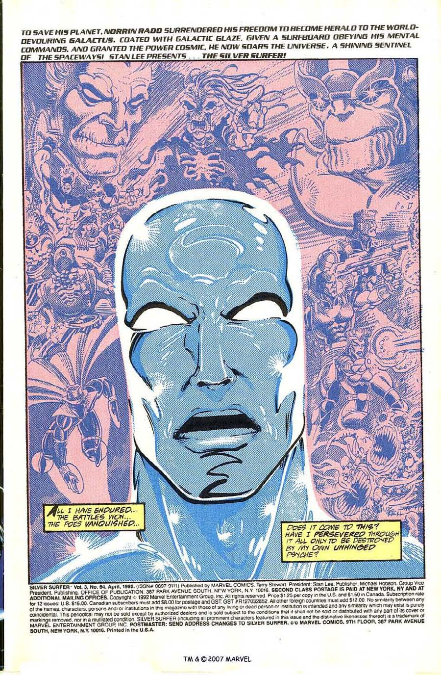 Read online Silver Surfer (1987) comic -  Issue #64 - 3