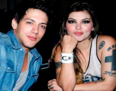Foto de Jean Paul Santa María con su ex pareja