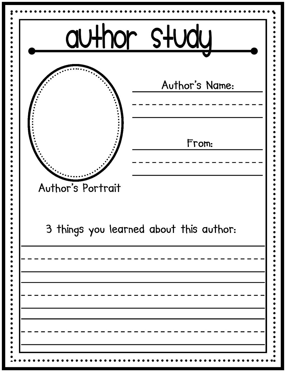 All About the Author Template - Google Docs