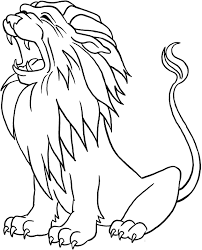 Lion Coloring Sheet Printable For Kids