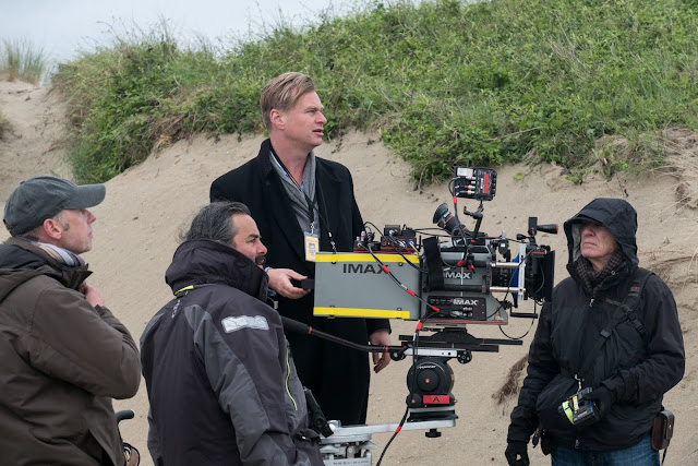 Christopher Nolan and Cinematographer Hoyte Van Hoytema on the set of Dunkirk