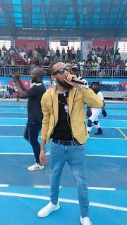 Phyno performance at asaba 2018 african athletic championship , Stephen keshi stadium