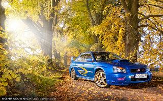 Subaru Impreza STI jesienią