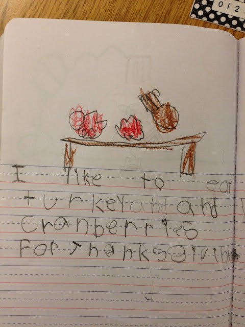 kindergarten journals, kindergarten writing