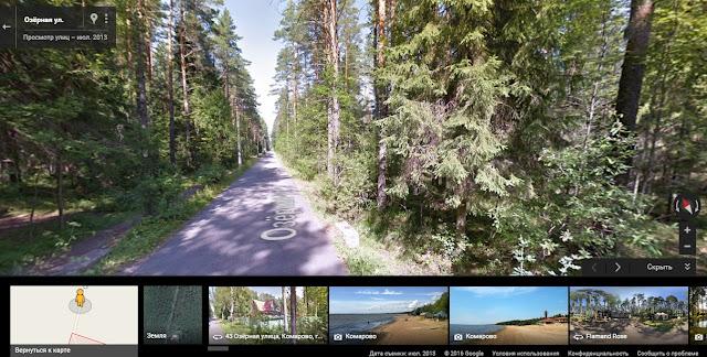 Комарово Озерная - дорога к Анне Ахматовой - google maps