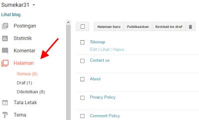 Cara Membuat Daftar Isi atau Sitemap Responsive