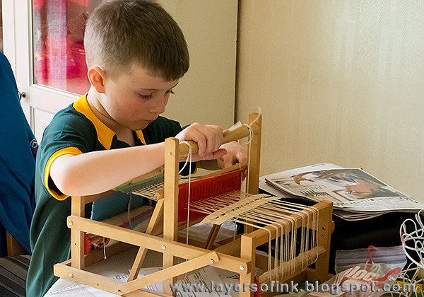 Layers of ink - Loom weaving