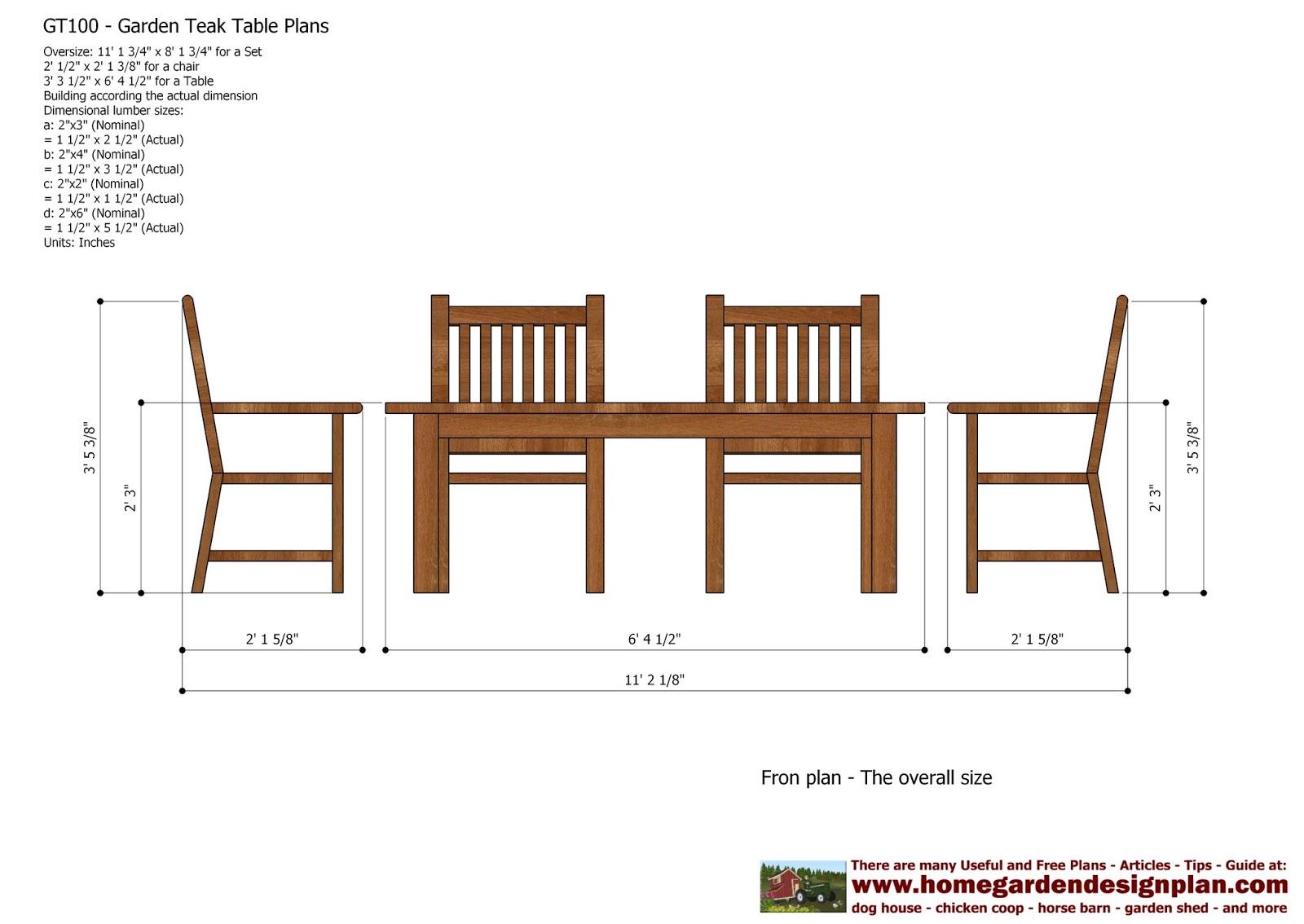 Garden Chair Design Plans Mould Home Gt100 Teak Tables