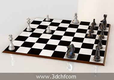 free 3d model chess set