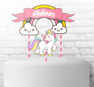 Unicorn: Free Printable Cake Toppers.