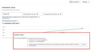 Cara Mengatasi DNS Server EROR di Webmaster (Setelah Berganti Domain)