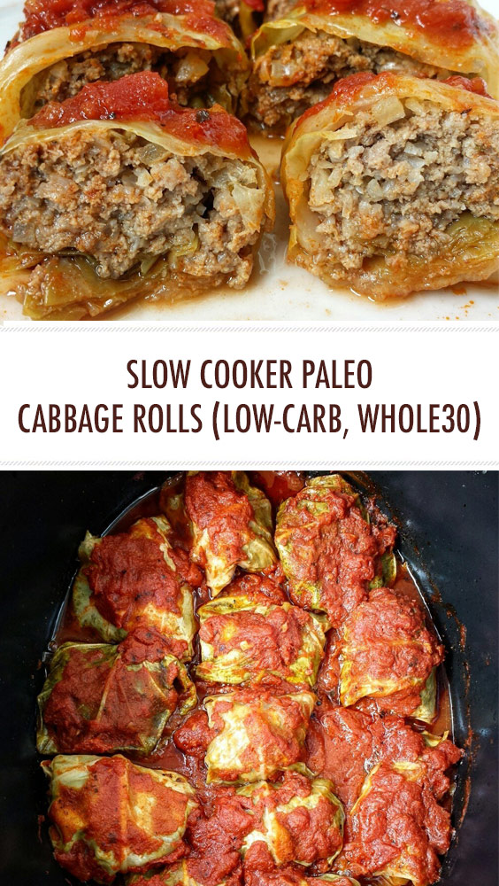 Slow Cooker Paleo Cabbage Rolls (Low-Carb, Whole30)