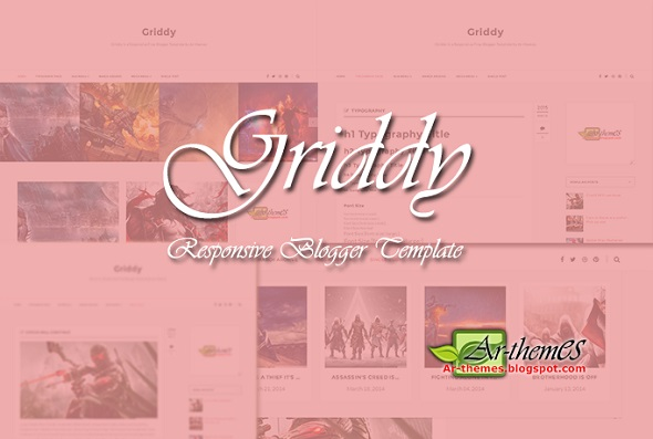 Griddy Responsive Blogger Template Preview