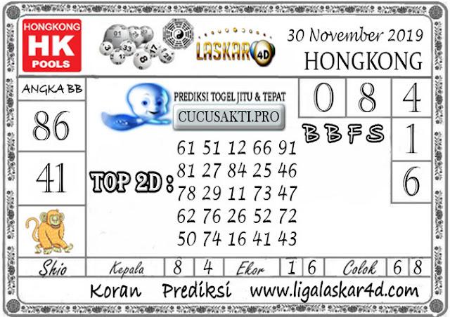 Prediksi Togel HONGKONG LASKAR4D 30 NOVEMBER 2019