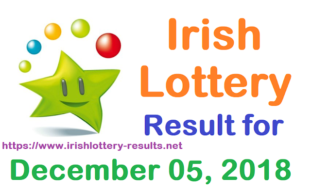 Irish Lottery Result for Wednesday, 05 December 2018