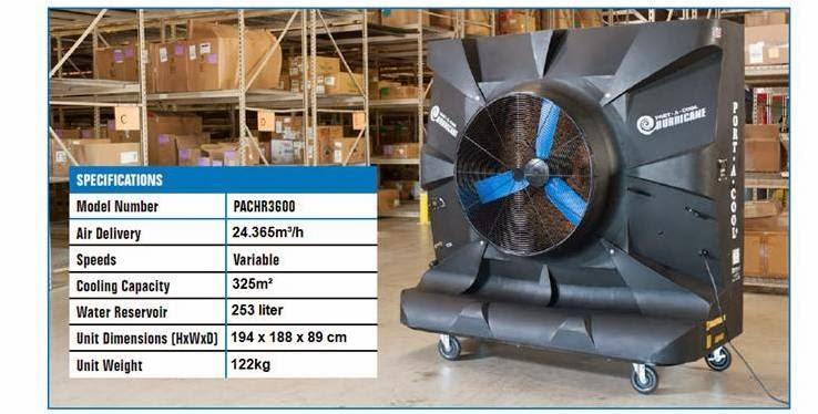 PortACool Cyclone evaporative cooler: Hurricane 3600