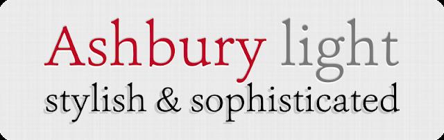 Web Design with Google Sites: Favorite Free Font - Ashbury Light