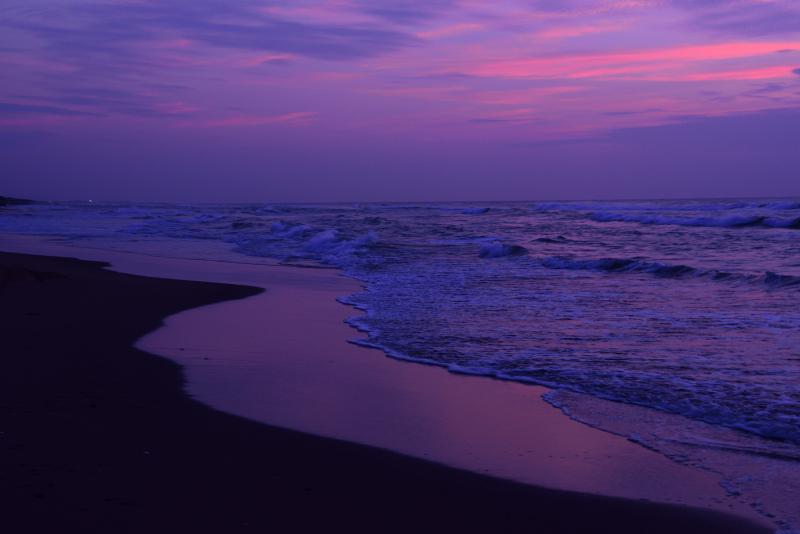 白尾海岸の夕暮れ