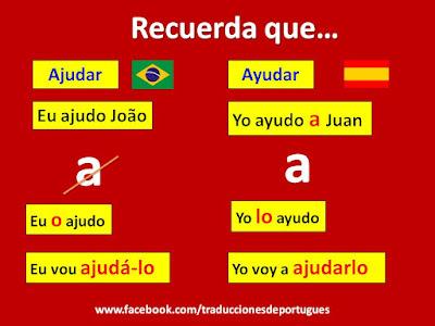 verbo ajudar, verbos transitivos directos, portugués