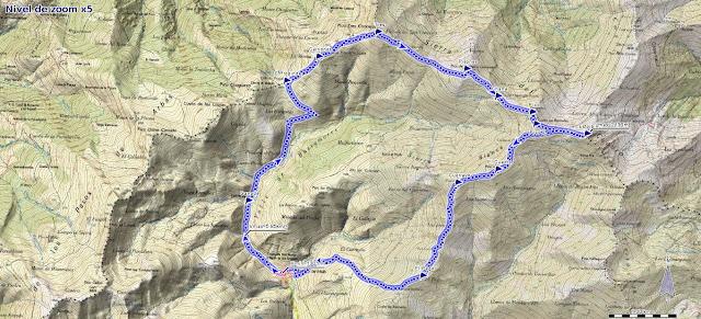 Mapa de la ruta al Tres Concejos y Estorbín de Valverde desde Pendilla