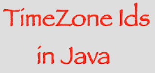 What are the Java TimeZone ID's