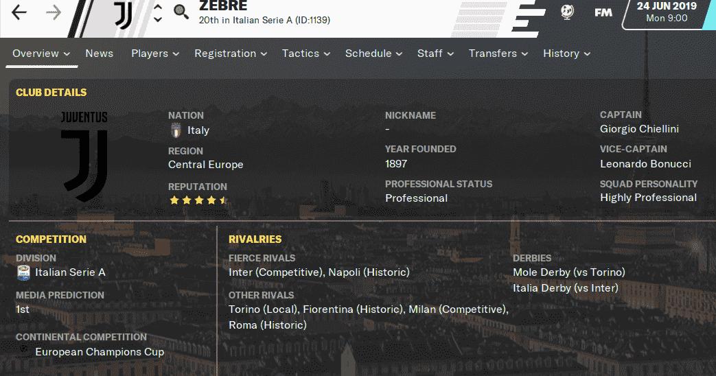 Fm20 Team Guide Tactic Juventus Fm Blog