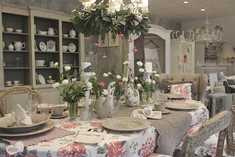 Kwiatowe Atelier Dekoracja Stołu Kwiatami Dla Blanc Mariclo