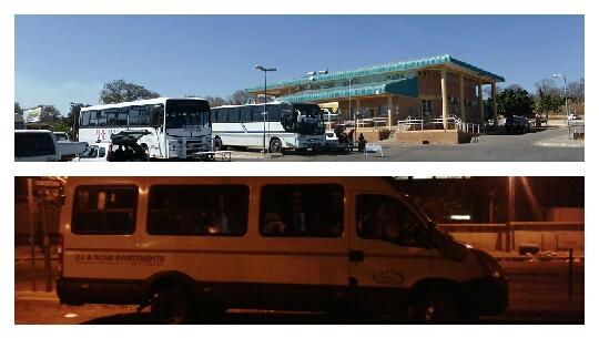 Estación autobuses Kasane y bus Kasane-Nata