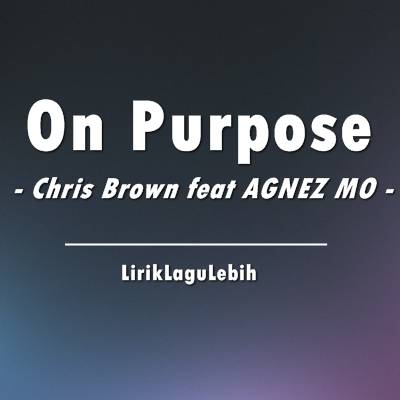 Chris Brown feat AGNEZ MO - On Purpose