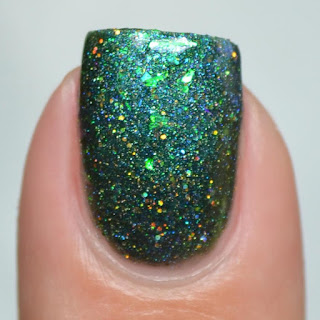 blue green color shifting nail polish