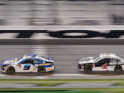 """#NASCAR Duel Winner Chase Elliott reported that the cars are a """"handful"""" right now."""