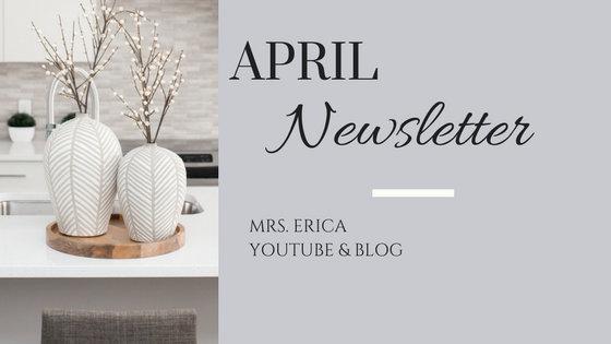 April Monthly Newsletter